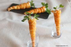Carottes apéritives de Pâques chantilly salée