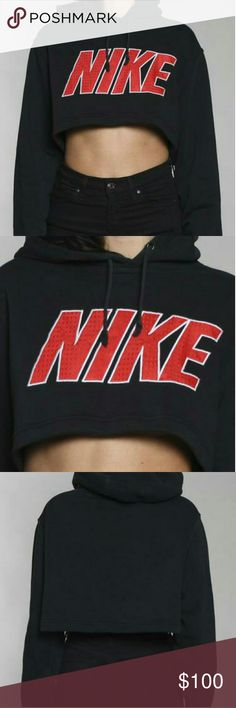 90s RARE VINTAGE CROPPED NIKE HOODIE Color is BLACK.   This is a 90s vintage item, price is 100% NEGOTIABLE but please no low-balling!   Bundle with other cute items from my closet or make an offer! :) Nike Tops Sweatshirts & Hoodies