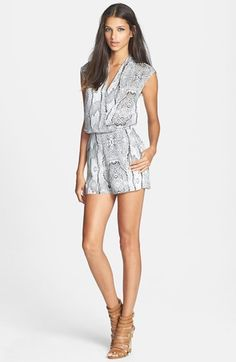 Lucy Paris Print Mesh Back Romper available at #Nordstrom