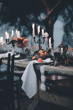 Spooky Halloween tablescape...this would bve my luncheon table with my vamps