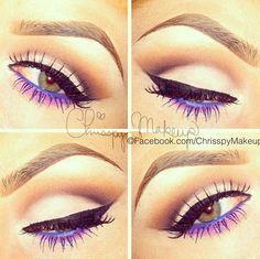Purple Eyeliner on Underlid