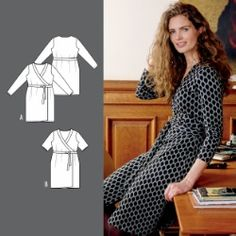 Omslagskjole Wrap Around Dress, Dress Making Patterns, Couture, Dressmaking, Rock, Wraparound, Sewing, Inspiration, Clothes