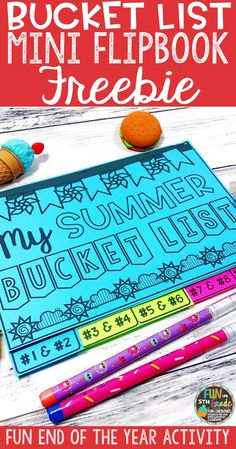 Looking for end of the year activities?  Check out this free resource to use with your students.  Students use the mini flipbook to write about things they'd like to accomplish over  summer break!