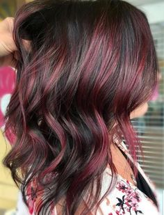 Ombre Color, Hair Color, Red Balayage Hair, Wine Hair, Colored Highlights, Photo Displays, Summer Hairstyles, Cut And Color, Personal Style