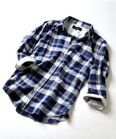 SHIPS JET BLUE(シップスジェットブルー)のSHIPS JET BLUE(シップス ジェットブルー): コットン / リネン フランクカラーシャツ 7スリーブ■(シャツ/ブラウス)|ブルー