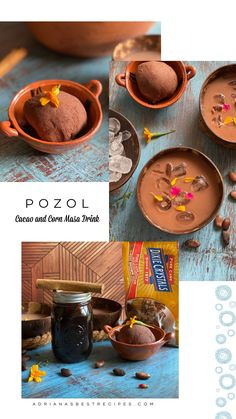 Super easy cacao and corn masa drink recipe. Unlike champurrado, this is an iced cold drink made with maize and raw powdered cacao. The beverage has hints of cinnamon and the sweetness of Dixie Crystals Light Brown Sugar. #dixiecrystals #mexicandrinks #mexicanrecipes #pozol #cacao #maize #masaharina #prehispanicrecipes #hispanicheritage Smoothie Recipes, Lunch Recipes, Crockpot Recipes, Soup Recipes, Salad Recipes, Breakfast Recipes, Chicken Recipes, Vegetarian Recipes, Dinner Recipes