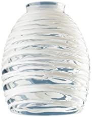 Westinghouse Lighting Corp Glass Shade, Clear with White Rope Design. Ceiling Fan Or Light Fixture Replacement Glass Shade Clear With White Rope Design Fitter Diameter. Light Fixture Replacement Glass, Fan Light Fixtures, Replacement Glass Shades, Wall Fixtures, Home Depot, Blue Pendant Light, Turquoise Pendant, Mini Pendant, Glass Fit