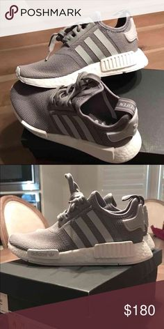 Grey Adidas nmd Trying to sell these adidas nmd! Sold out shoe. I only wore them once. They are a youth size 4 which equals to a women's size 6. Still have box. Adidas Shoes Sneakers