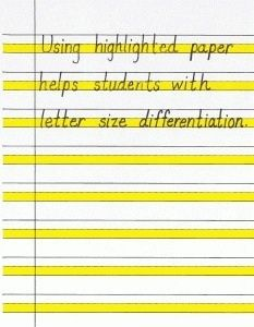 for Improving Handwriting Using highlighted paper and other strategies for improving handwriting.Using highlighted paper and other strategies for improving handwriting. 1st Grade Writing, Kindergarten Writing, Teaching Writing, Teaching Resources, Literacy, Hand Writing, Writing Paper, Writing Skills, Teaching Ideas