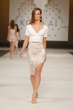 Rrp $160 Black Sapphire Skirt Kookai Size 40