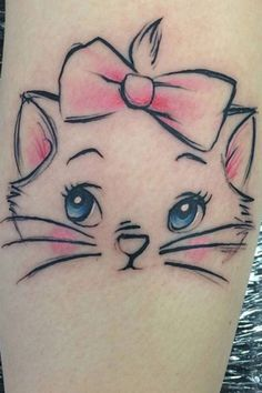 Tattoo of Marie from The Aristocats