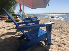 Nautical Adirondack Chair by POLYWOOD® Adirondack Chairs, Outdoor Chairs, Outdoor Furniture, Outdoor Decor, Beach Porch, Homemade Bleach, Fire Pit Table, Backyard, Patio