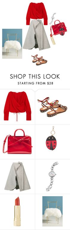 """""""Untitled #5206"""" by ayse-sedetmen ❤ liked on Polyvore featuring Adeam, Valentino, Charlotte Olympia, Akribos XXIV and Anthropologie"""