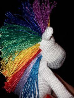 Szydełkowy jednorożec/crochet unicorn made by kulkizfilcu