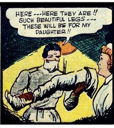 Funny & Weird Comic Strip Panels from the Past - Earthly Mission Vintage Comic Books, Vintage Humor, Vintage Comics, Comic Books Art, Comic Art, Weird Vintage, Funny Vintage, Old Comics, Funny Comics