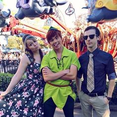 Andrew and Hali Ducote with Peter in Disneyland Disney Parks, Disney Pixar, Walt Disney, Peter Pan Disneyland, Story Of Peter, Peter Pans, Disney Animated Movies, Never Grow Old, Disney Face Characters