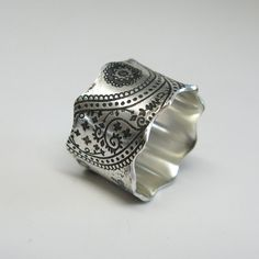 Vintage Inspired Paisley Sterling Silver Ring