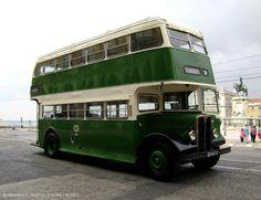 Lisbon bus of the Double Decker Bus, Bus Coach, Lisbon Portugal, Caravans, Back In The Day, Historical Photos, Motorhome, Four Square, Vintage Photos