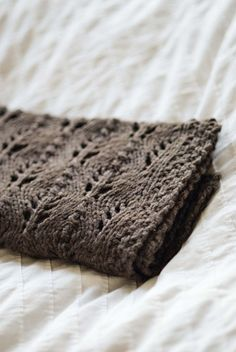 Wool Leaves blanket; Jared Flood pattern (for purchase)