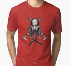 Viking Warrior Tri-blend T-Shirts - Many Colors and Sizes