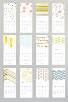 Patterned Wall Calendar by PlumPaperDesigns on Etsy, $8.00