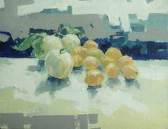 "Saatchi Art Artist Pasha Gryniuk; Painting, ""apples/apricots "" #art"