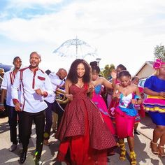 Image may contain: 7 people, people standing and outdoor South African Wedding Dress, African Wedding Cakes, African Traditional Wedding Dress, African Bridesmaid Dresses, African Wedding Attire, Traditional Wedding Attire, South African Weddings, Traditional Weddings, African Fashion Dresses