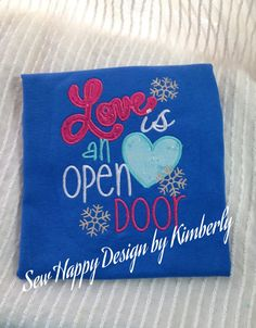Love is an Open Door Frozen  Inspired T Shirt by SewHapDesign