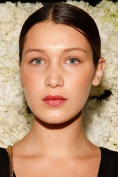 Bella Hadid at a French Connection event in 2014. http://beautyeditor.ca/2015/10/09/bella-hadid-before-and-after