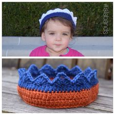 NEW YORK Sports Teams Crown! You CHOOSE Team Colors - Adult Teen Child Toddler Baby. Your choice of sport/team: Yankees, Mets, Knicks, Nets, Islanders, Rangers, Giants, Jets  // #islabands #crochetcrown