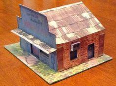 PAPERMAU: Ammu-Nation Gun Shop Paper Model - Assembled by Mike Sanderson