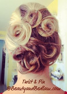 "Great hair idea for women with long hair... can be an updo or just a messy ""out of the way"" hair style that looks good!!"