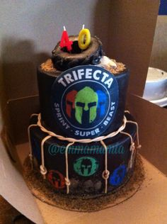 Decoration Gateau Spartan Race