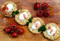 Karfiol tócsni chia maggal | NOSALTY Avocado Toast, Tapas, Diet Recipes, Paleo, Eggs, Meat, Chicken, Breakfast, Food