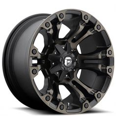 2de02716dc7 FUEL® - VAPOR Black with Machined Face and Double Dark Tint. The wheel can  be ordered in diameters. Choose your rim width