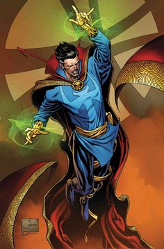 To commemorate 400 issues of Doctor Strange, Marvel Chief Creative Officer Joe Quesada provides variant to mark occasion. Marvel Dc Comics, Marvel Art, Marvel Heroes, Marvel Avengers, Marvel Defenders, Cosmic Comics, Marvel Comic Character, Comic Book Characters, Marvel Characters