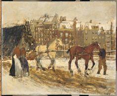 Het Rokin ? te Amsterdam  Breitner, George Hendrik    Verv.jaar: 1923