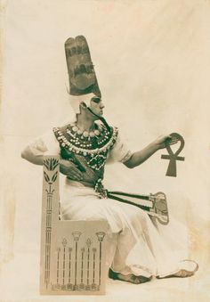 Ted Shawn as Pharoah in the Greek Theatre pageant. (1916)