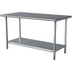 Sportsman Stainless Steel Kitchen Work Table 24 in. x 49 in.-SSWTABLE at The Home Depot - laundry room? Patio Bar Set, Pub Table Sets, Home Depot, Stainless Steel Work Table, Stainless Steel Island, Stainless Kitchen, Commercial Kitchen, Work Surface, Diy Table