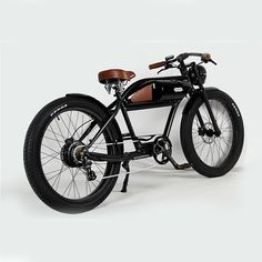 Ruff Cycles The Ruffian eBike ePowered by Bosch Electric Moped, Bicycle Shop, Black Noir, Greaser, Bike Design, Bosch, Vintage Designs, Motorbikes, Motorcycle