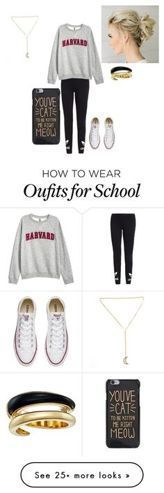 """""""Not to enthusiastic about school tomorrow."""" by lvcph on Polyvore featuring adidas Originals, Converse and Michael Kors"""