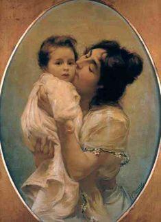 Amore Materno Fausto Zonaro (1854 – 1929, Italian)