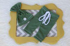 Newborn boy set-Boy set-Green set-Photo by DESERTROSECOUTURE