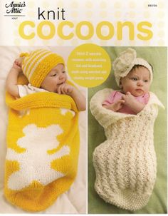 Knit Cocoons Baby Patterns by needlecraftsupershop on Etsy, $5.99