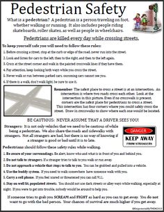 Printables Pedestrian Safety Worksheets 1000 images about autism activities on pinterest table manners one page worksheet how to remain safe as a pedestrian from vehicles