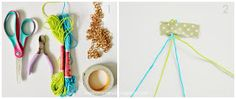 Inspirations by D: How to Make a String and Chain Bracelet