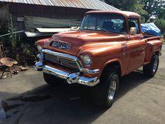 57' GMC Gmc 4x4, Gmc Pickup, Vintage Pickup Trucks, Classic Pickup Trucks, Gm Trucks, Cool Trucks, Chevy Classic, Chevy Pickups, Chevrolet