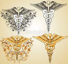 Doctors Caduceus Royalty Free Stock Vector Art Illustration