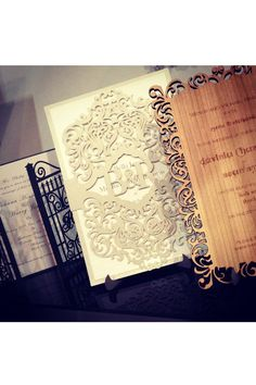 Intricate Creations laser-cut wedding invitations - Brides The Show 2013