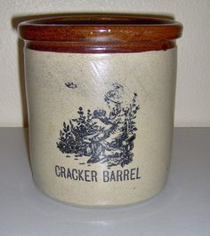 Another awesome pottery crock that is in fabulous condition...Moira Staffordshire Pottery Crock Cracker Barrel England Vintage Girl Handmade.....neeeeed!!!!